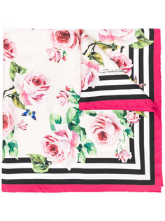 платок с принтом роз Dolce & Gabbana