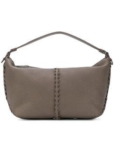 сумка на плечо с плетеным элементами Bottega Veneta