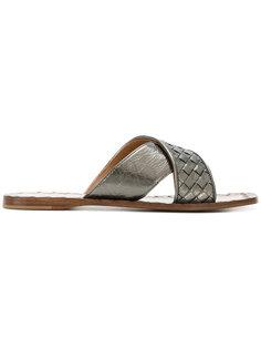сандалии с ремешком с плетеным дизайном Bottega Veneta