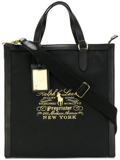 сумка-тоут с вышитым логотипом  Ralph Lauren