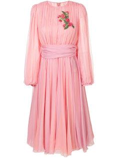 шифоновое платье с вышивкой Dolce & Gabbana
