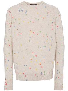 свитер с брызгами краски The Elder Statesman