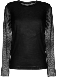 sheer sleeve top Luisa Cerano