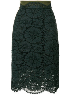 кружевная юбка прямого кроя Dorothee Schumacher