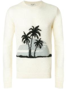 джемпер с пальмами Saint Laurent
