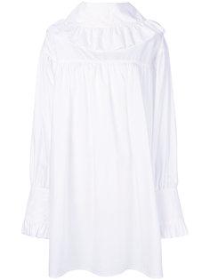 платье с рюшами на горловине Marni