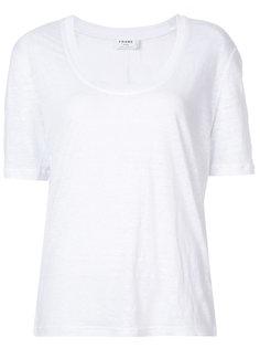 футболка с вырезом-ковш Frame Denim