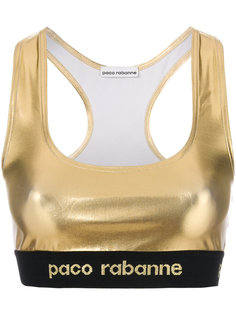 эластичный укороченный топ  Paco Rabanne
