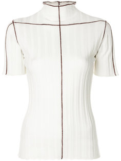 ribbed exposed seam top Marni