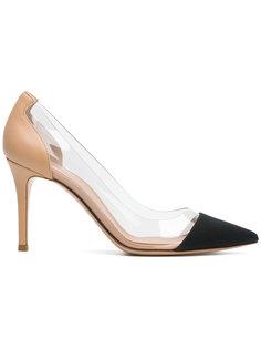 прозрачные туфли с контрастным носком Gianvito Rossi
