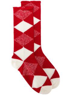 носки с геометрическим узором Burberry