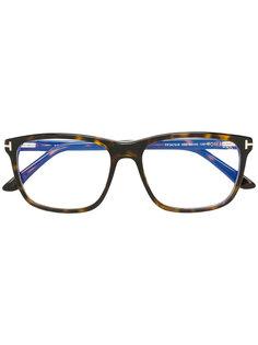 очки с эффектом черепашьего панциря Tom Ford Eyewear