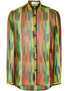 рубашка с принтом мазков кисти Saint Laurent