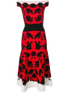 платье миди с цветочным принтом Alexander McQueen