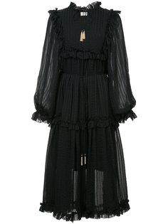 pleated ruffle dress Zimmermann