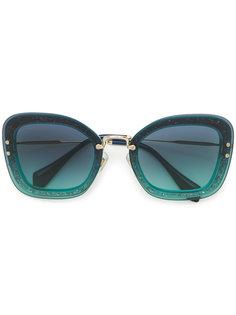 массивные солнцезащитные очки  Miu Miu Eyewear