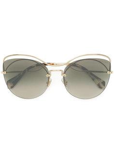 декорированные массивные солнцезащитные очки  Miu Miu Eyewear