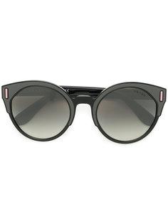 """солнцезащитные очки в оправе """"кошачий глаз"""" дизайна колор-блок Prada Eyewear"""