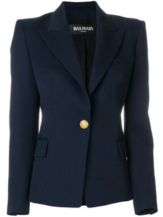 пиджак с декоративной пуговицей Balmain