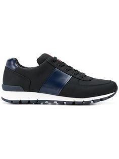 кроссовки с контрастными вставками Prada