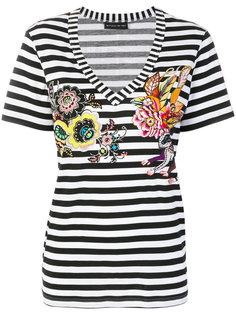полосатая футболка с цветочным принтом Etro