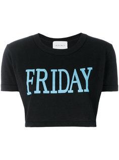 укороченная футболка с принтом Friday Alberta Ferretti