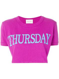 укороченная футболка с принтом Thursday  Alberta Ferretti