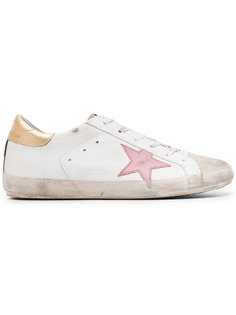 кроссовки White & Pink Superstar Golden Goose Deluxe Brand