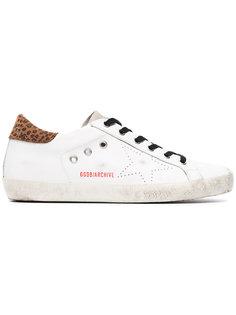 кроссовки Superstar с деталью с леопардовым узором Golden Goose Deluxe Brand