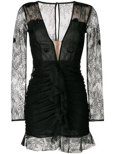 fitted v-neck lace dress For Love And Lemons