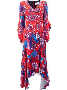 асимметричное платье с принтом Peter Pilotto