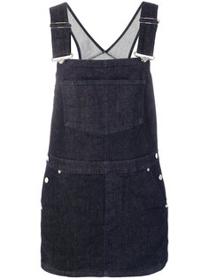 джинсовый сарафан с логотипом  Givenchy