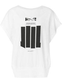 футболка с полосатым принтом NILøS