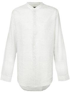 рубашка с воротником-стойкой и мелким узором  John Varvatos
