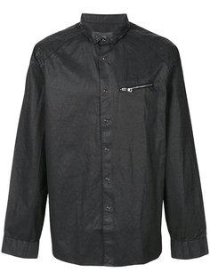 приталенная рубашка с отделкой молниями John Varvatos