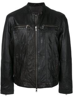 байкерская куртка на молнии John Varvatos