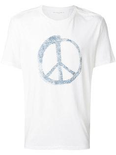 футболка с принтом пацифистского знака John Varvatos