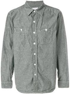 рубашка с накладными карманами из ткани шамбре Engineered Garments