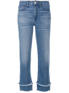 cropped frayed detail jeans 3X1