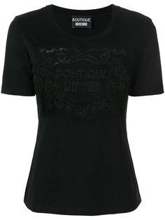 футболка с вышитым логотипом  Boutique Moschino