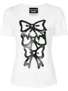 футболка с графическим принтом Boutique Moschino