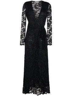 длинное кружевное платье Maxi Flynn Ganni