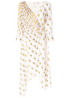 платье с запахом и драпированной деталью Peter Pilotto