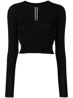 укороченный свитер с V-образным вырезом Rick Owens
