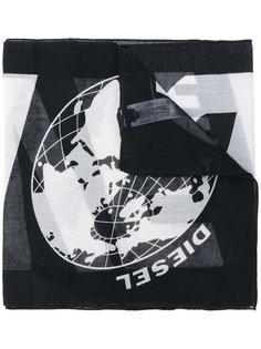 шарф с логотипом  Diesel