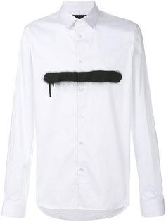 рубашка с контрастной полосой Diesel Black Gold