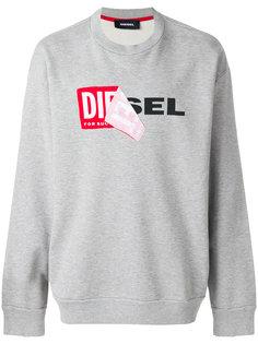 толстовка с логотипом Diesel