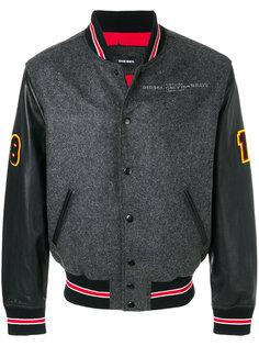 унивверситетская куртка с заплатками  Diesel