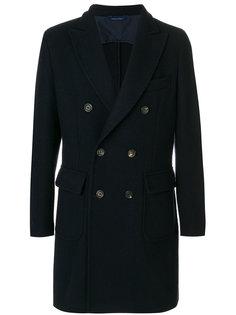 прямое пальто на пуговицах Delloglio