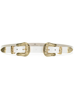 double buckle western belt  B-Low The Belt